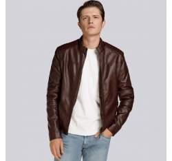 Męska kurtka z pikowaniem ocieplana, brązowy, 93-9P-104-4-XL, Zdjęcie 1