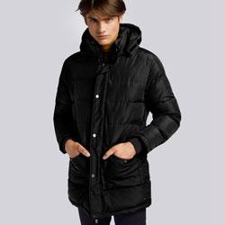 Męska kurtka zimowa z kapturem, czarny, 93-9D-451-1-S, Zdjęcie 1