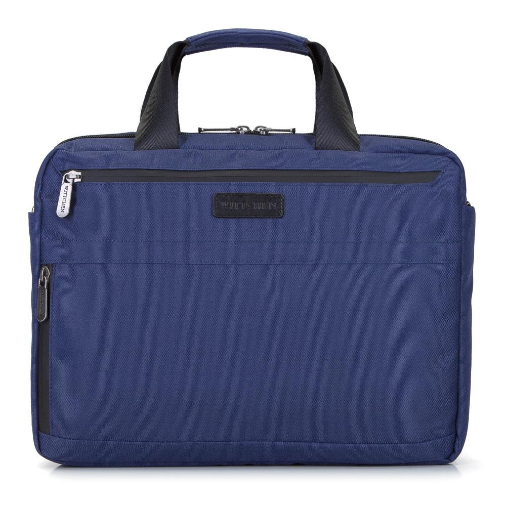 """Męska torba na laptopa 13"""" z boczną kieszenią mała, granatowy, 92-3P-102-17, Zdjęcie 1"""