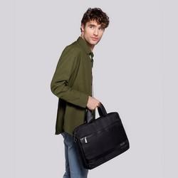 """Męska torba na laptopa 13"""" z krytym suwakiem mała, czarny, 92-3P-107-1, Zdjęcie 1"""