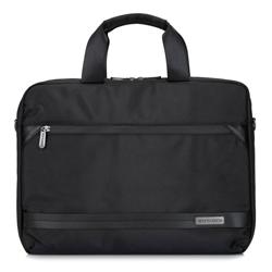 """Męska torba na laptopa 15,6"""" z krytym suwakiem duża, czarny, 92-3P-106-1, Zdjęcie 1"""