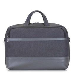"Męska torba na laptopa 15,6"" z panelem z ekoskóry, czarny, 92-3P-505-1, Zdjęcie 1"
