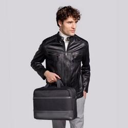 """Męska torba na laptopa 15,6"""" z panelem z ekoskóry, grafitowy, 92-3P-505-1, Zdjęcie 1"""