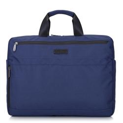 """Męska torba na laptopa 17"""" z boczną kieszenią duża, granatowy, 92-3P-101-17, Zdjęcie 1"""