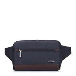 Waistbag, navy blue-brown, 93-3U-906-17, Photo 1