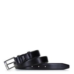 Classic leather belt, black, 92-8M-369-1-11, Photo 1
