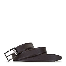 Men's leather belt, brown, 91-8M-314-4-11, Photo 1