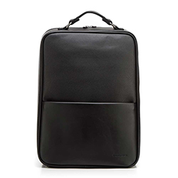 """Męski plecak na laptopa 13/14"""" z gładką kieszenią, czarny, 92-3P-501-1, Zdjęcie 1"""