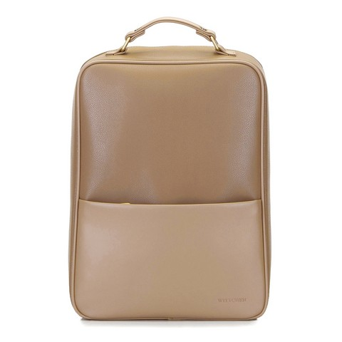 """Męski plecak na laptopa 13/14"""" z gładką kieszenią, beżowy, 92-3P-501-5, Zdjęcie 1"""