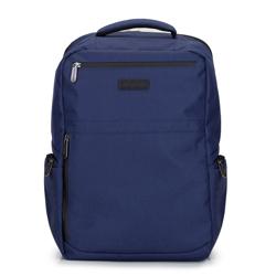 """Męski plecak na laptopa 15,6"""" z boczną kieszenią, granatowy, 92-3P-100-17, Zdjęcie 1"""