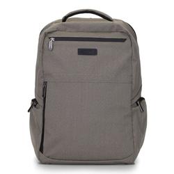 """Męski plecak na laptopa 15,6"""" z boczną kieszenią, beżowo - czarny, 92-3P-100-8, Zdjęcie 1"""