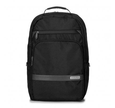 """Męski plecak na laptopa 15,6"""" z krytym suwakiem, czarny, 92-3P-105-15, Zdjęcie 1"""