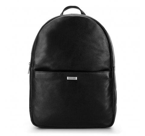 Męski plecak na laptopa z miękkiej skóry, czarny, 92-3U-310-1, Zdjęcie 1
