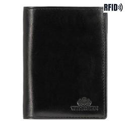 Męski portfel skórzany praktyczny, czarno - złoty, 21-1-265-L10, Zdjęcie 1