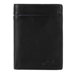Męski portfel skórzany z rozcięciem, czarno - granatowy, 21-1-492-1N, Zdjęcie 1