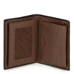 Męski portfel skórzany z rozcięciem, czarno - brązowy, 21-1-492-14, Zdjęcie 1