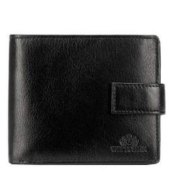 Męski portfel ze skóry duży, czarny, 21-1-216-10, Zdjęcie 1