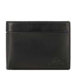 Męski portfel ze skóry z rozcięciem, czarno - granatowy, 21-1-491-1N, Zdjęcie 1