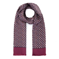Men's silk scarf, violet-grey, 93-7M-S41-1, Photo 1