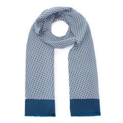 Men's silk scarf, green - gray, 93-7M-S41-5, Photo 1