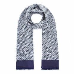 Men's silk scarf, navy blue-green, 93-7M-S41-6, Photo 1