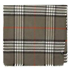 Męski szalik w kratkę, khaki, 91-7M-X20-X1, Zdjęcie 1