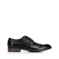 Men's classic leather brogues, black, 92-M-919-1-40, Photo 1