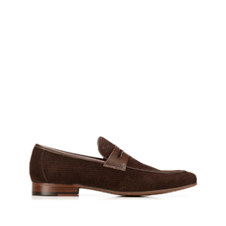 penny loafers, brown, 92-M-507-4-41, Photo 1
