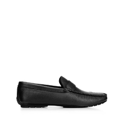 Men's leather penny loafers, black, 92-M-904-1-39, Photo 1