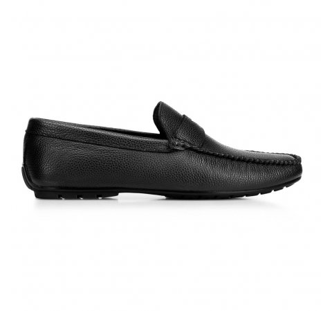 Men's leather penny loafers, black, 92-M-904-7-42, Photo 1