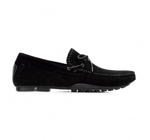 Men's suede driver loafers, black, 92-M-903-Z-44, Photo 1