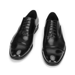 Męskie oksfordy skórzane klasyczne, czarny, 93-M-921-1-40, Zdjęcie 1