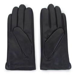 Męskie rękawiczki z plecionej skóry, czarny, 39-6-345-1-X, Zdjęcie 1