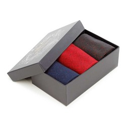 Men's diamond pattern socks, multicoloured, 93-SK-015-X1-43/45, Photo 1