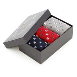 Męskie skarpetki w rzucik - zestaw 3 par, multikolor, 93-SK-013-X1-40/42, Zdjęcie 1