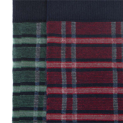 Męskie skarpetki wzorzyste - zestaw 2 par, czerwono - zielony, 91-SK-009-X1-40/42, Zdjęcie 1