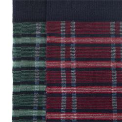 Męskie skarpetki wzorzyste - zestaw 2 par, czerwono - zielony, 91-SK-009-X1-43/45, Zdjęcie 1