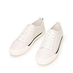 Męskie sneakersy skórzane o kroju trampek, biały, 92-M-911-0-43, Zdjęcie 1