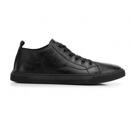 Męskie sneakersy skórzane z przeszyciami, czarny, 92-M-912-1-39, Zdjęcie 1
