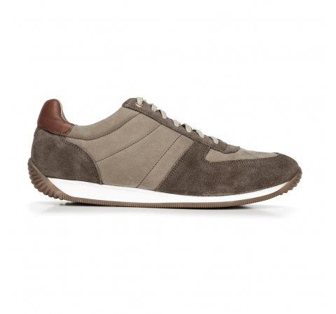 Męskie sneakersy z różnych skór, beżowy, 92-M-350-7-43, Zdjęcie 1