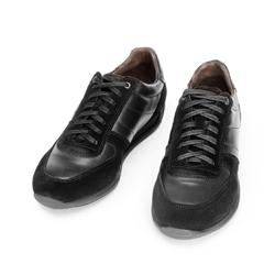 Męskie sneakersy z różnych skór, czarny, 92-M-350-1-43, Zdjęcie 1
