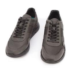 Męskie sneakersy z wegańskiej skóry ze wstawką lizard, czarny, 93-M-301-1-41, Zdjęcie 1