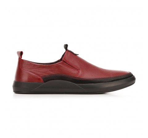 Męskie sneakersy ze skóry wsuwane, czerwono - czarny, 92-M-902-5-44, Zdjęcie 1