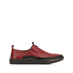 Men's leather slip-on trainers, red-black, 92-M-902-2-42, Photo 1