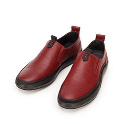Męskie sneakersy ze skóry wsuwane, czerwono - czarny, 92-M-902-2-40, Zdjęcie 1