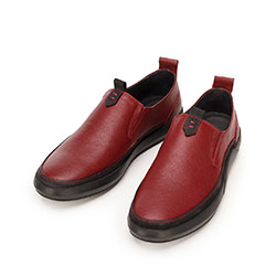 Męskie sneakersy ze skóry wsuwane, czerwono - czarny, 92-M-902-2-41, Zdjęcie 1