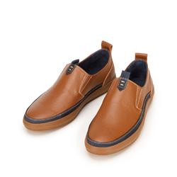 Męskie sneakersy ze skóry wsuwane, brązowo - granatowy, 92-M-902-5-43, Zdjęcie 1