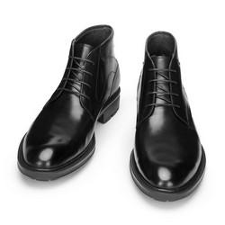Men's classic leather lace up boots, black, 93-M-523-1-42, Photo 1