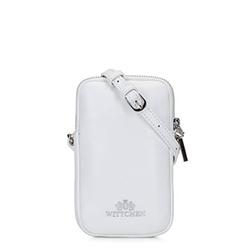 Mini torebka skórzana z dżetami, biały, 92-2E-313-0, Zdjęcie 1