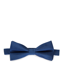 Men's silk bow tie, blue, 91-7I-001-7, Photo 1